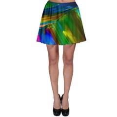 Abstract Acryl Art Skater Skirt