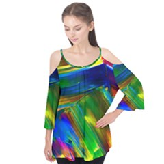 Abstract Acryl Art Flutter Tees