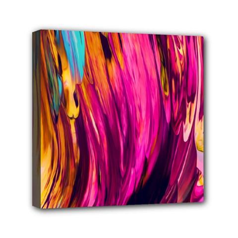 Abstract Acryl Art Mini Canvas 6  X 6