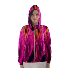Abstract Acryl Art Hooded Wind Breaker (women)