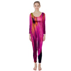Abstract Acryl Art Long Sleeve Catsuit