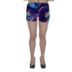 Abstract Acryl Art Skinny Shorts