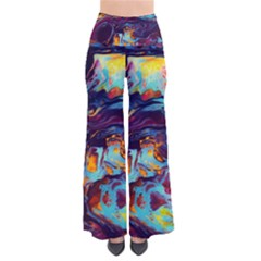 Abstract Acryl Art Pants