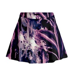 Abstract Acryl Art Mini Flare Skirt