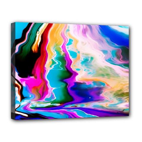 Abstract Acryl Art Canvas 14  X 11