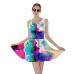 Abstract Acryl Art Skater Dress