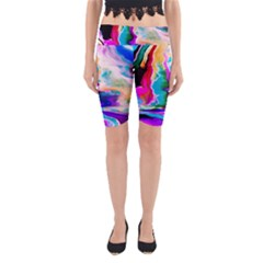Abstract Acryl Art Yoga Cropped Leggings
