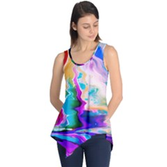 Abstract Acryl Art Sleeveless Tunic