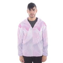 Rose Pink Flower, Floral Aquarel   Watercolor Painting Art Hooded Wind Breaker (men)