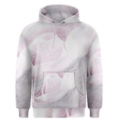 Rose Pink Flower  Floral Pencil Drawing Art Men s Pullover Hoodie