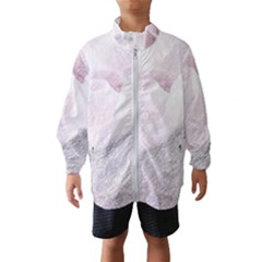 Rose Pink Flower  Floral Pencil Drawing Art Wind Breaker (kids)