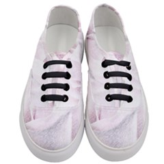 Rose Pink Flower  Floral Pencil Drawing Art Women s Classic Low Top Sneakers