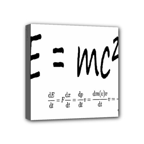 E=mc2 Formula Physics Relativity Mini Canvas 4  X 4