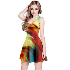 Abstract Acryl Art Reversible Sleeveless Dress