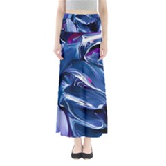 Abstract Acryl Art Full Length Maxi Skirt