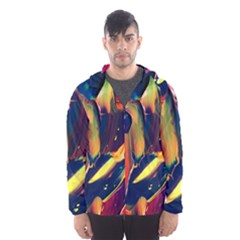 Abstract Acryl Art Hooded Wind Breaker (men)