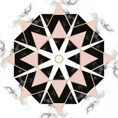 Triangles,gold,black,pink,marbles,collage,modern,trendy,cute,decorative, Hook Handle Umbrellas (large)