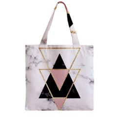 Triangles,gold,black,pink,marbles,collage,modern,trendy,cute,decorative, Grocery Tote Bag