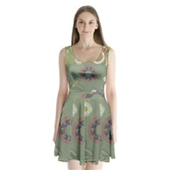 Artnouveau18 Split Back Mini Dress