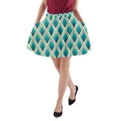 Artdecoteal A Line Pocket Skirt