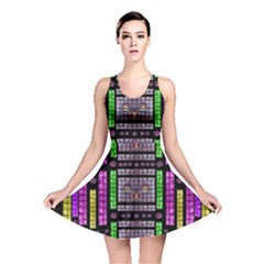 This Is A Cartoon Circle Mouse Reversible Skater Dress