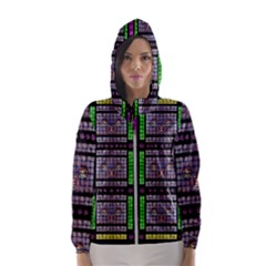 This Is A Cartoon Circle Mouse Hooded Wind Breaker (women)