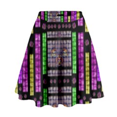 This Is A Cartoon Circle Mouse High Waist Skirt