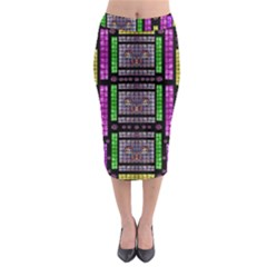 This Is A Cartoon Circle Mouse Midi Pencil Skirt