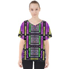 This Is A Cartoon Circle Mouse V Neck Dolman Drape Top