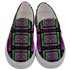This Is A Cartoon Circle Mouse Men s Canvas Slip Ons