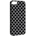 SCALES1 BLACK MARBLE & WHITE LINEN (R) Apple iPhone 5 Classic Hardshell Case View2