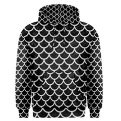 Scales1 Black Marble & White Linen (r) Men s Pullover Hoodie