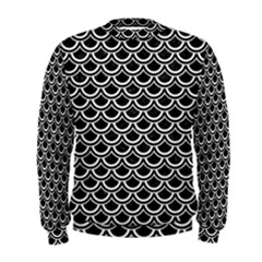 Scales2 Black Marble & White Linen (r) Men s Sweatshirt
