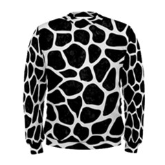 Skin1 Black Marble & White Linen Men s Sweatshirt