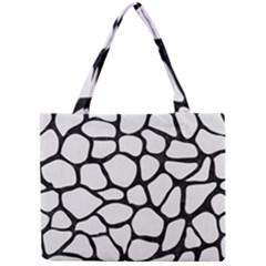 Skin1 Black Marble & White Linen (r) Mini Tote Bag