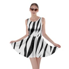 Skin3 Black Marble & White Linen Skater Dress