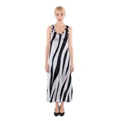 Skin3 Black Marble & White Linen Sleeveless Maxi Dress