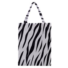 Skin3 Black Marble & White Linen Classic Tote Bag