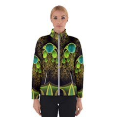 Beautiful Gold And Green Fractal Peacock Feathers Winterwear