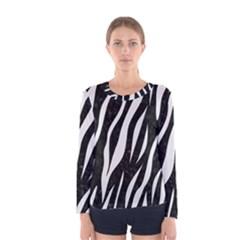 Skin3 Black Marble & White Linen (r) Women s Long Sleeve Tee