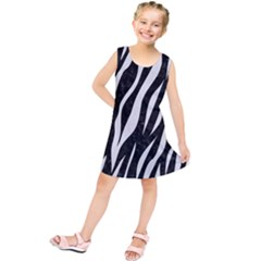 Skin3 Black Marble & White Linen (r) Kids  Tunic Dress