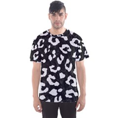 Skin5 Black Marble & White Linen Men s Sports Mesh Tee