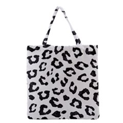 Skin5 Black Marble & White Linen (r) Grocery Tote Bag