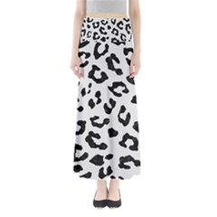 Skin5 Black Marble & White Linen (r) Full Length Maxi Skirt