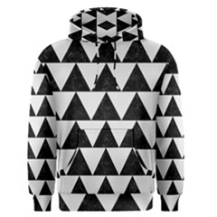 Triangle2 Black Marble & White Linen Men s Pullover Hoodie