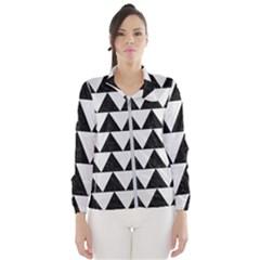 Triangle2 Black Marble & White Linen Wind Breaker (women)