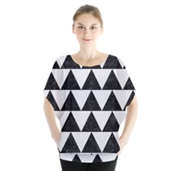 Triangle2 Black Marble & White Linen Blouse