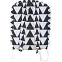 TRIANGLE2 BLACK MARBLE & WHITE LINEN Full Print Backpack View2