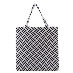 Woven2 Black Marble & White Linen Grocery Tote Bag