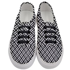 Woven2 Black Marble & White Linen (r) Women s Classic Low Top Sneakers